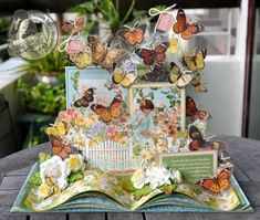 From The Pages of The Secret Garden using Secret Garden Graphic 45 paper by Sue Lui OMG this is amazing x yj Graphic 45, 3d Paper Crafts, Paper Art, Book Crafts, Paper Crafting, 3 D, Up Book, Home And Deco, Creative Cards