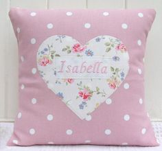 Personalised Girls Heart Cushion
