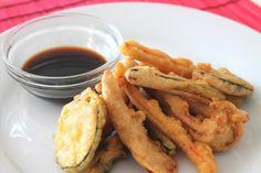 Tempura de verduras (cómo hacer frituras más sanas) / Vegetable tempura