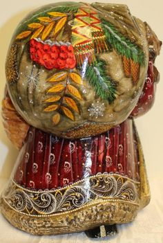 Carved wooden Santa Clause