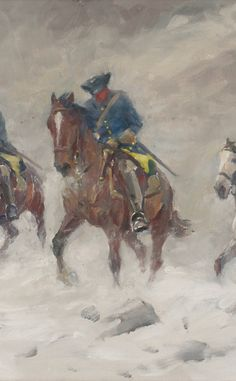 Swedish cavalry in Russian blizzard, Great Northern War