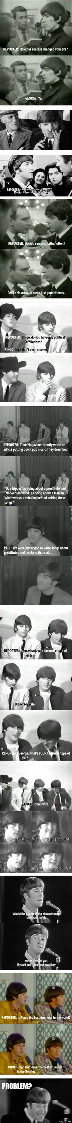 """Ringo isn't even the best drummer in the Beatles."" Lol!"