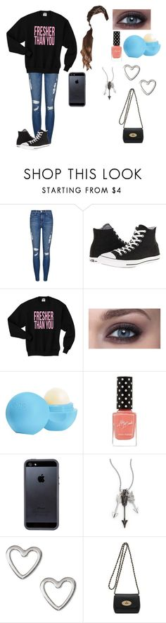 """""""Untitled #264"""" by i-found-wonderland ❤ liked on Polyvore featuring Frame Denim, Converse, Eos, Tavik Swimwear, Jade Jagger and Mulberry"""