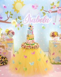 No photo description available. Bird Party, Butterfly Party, Butterfly Decorations, Cake Table Decorations, Birthday Decorations, Wedding Decorations, 1st Birthday Party For Girls, Girl Birthday Themes, Sunshine Birthday
