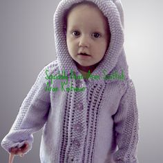 Little Gabrielle  models a Limited Edition Jacket by Squiddly Bean Aran Knitwear! Aged 1 - 2years - THIS ITEM IS NOW SOLD