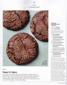 Mexican Hot-Chocolate Cookies (Martha Stewart)