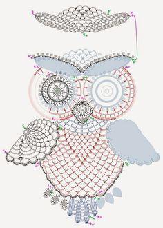 Je ne suis pas du tout une pro du crochet (cela ressemble plus à de la dentelle d'ailleurs...), mais j'ai trouvé ces petites chouettes tellement adorables que je souhaitais les partager ! Pour celles qui voudraient s'y atteler, elles ont été travaillées avec un crochet 0.75 (Boutique Crochet), et voici donc le modèle ci-dessous ! Retrouver tous nos fils crochet ici : balaine.yarnshopping.com/crochet_-_needlepoint