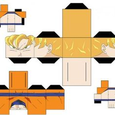 Someone has taken their spare time and created printable versions of different Dragon Ball Z characters.