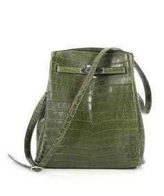 Hermes Pre-Owned  Vintage Kelly Sport Handbag Niloticus Crocodile 26 a9210160bdf49