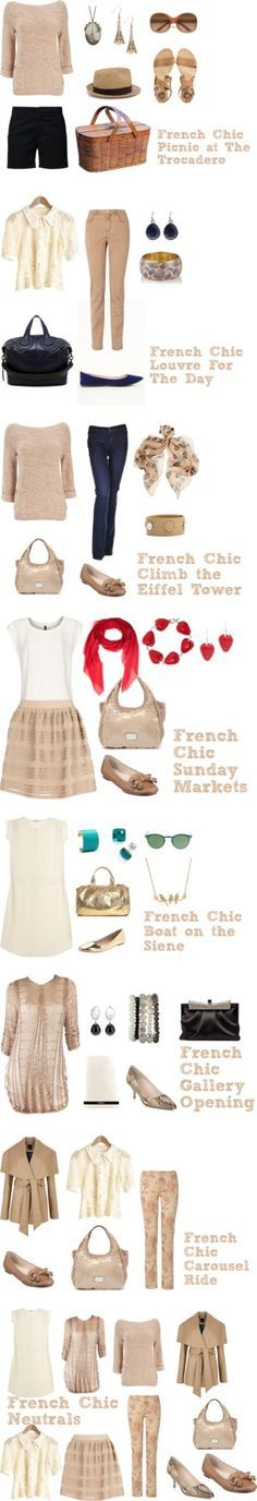 """""""French Chic: Neutrals {Day Wear}"""" by bbeingcool-1 on Polyvore"""