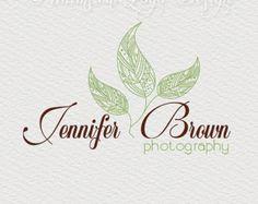 Premade Leaves logo design photography logo Watermark .vintage logo design - Blossom Photography - Nature logo