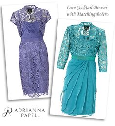 Short Lace Occasion Dresses and Matching Jackets