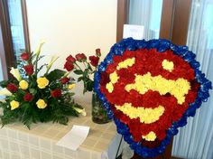 Superman funeral spray for a sweet little boy's service