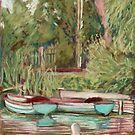 Boats at Llangors Lake