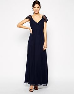 Navy Blue Wedding Dresses ... DRESS!! Dresses for Bridesmaids from BHLDN | Fleur Gown in navy blue