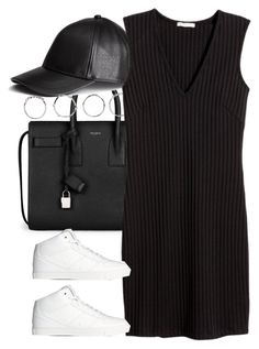 """""""Untitled #3646"""" by amyn99 ❤ liked on Polyvore featuring Yves Saint Laurent, H&M and Boohoo"""