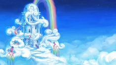 In the clouds by AssasinMonkey on deviantART Sooooo pretty :D I wanna live in Cloudsdale