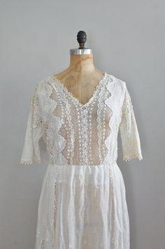 Edwardian/1920s Verandah lace dress | http://www.etsy.com/listing/98861270/1920s-dress-lace-edwardian-dress-20s    #vintage #edwardian #vintagewedding #1920s