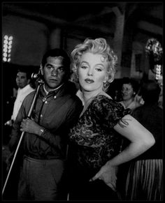 """1956 / On the set of """"Bus stop""""."""