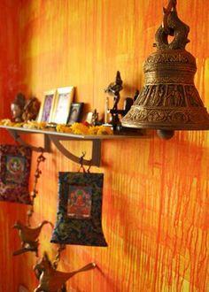 brass bell - artnlight: Two artists and a beautiful home