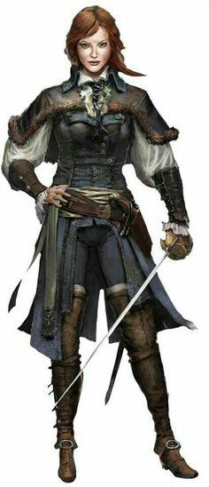 Female Investigator - Pathfinder PFRPG DND D&D d20 fantasy