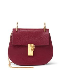 Drew Small Shoulder Bag, Wine by Chloe at Neiman Marcus.