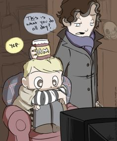 Johnlock. This is so cute! ITS THE CUTEST MOST ADORABLE THING IN THE ENTIRE WORLD.