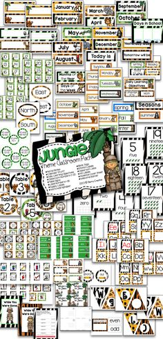 Jungle Theme Classroom Pack 90+ pages of jungle themed items for any classroom! Might have to buy it!
