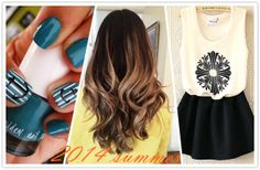 my foto diary for summer-capelli mossi highligths, nails, dresses