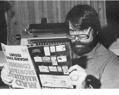 "msflamingo: "" Stephen King reads MAD Magazine, 1979 """