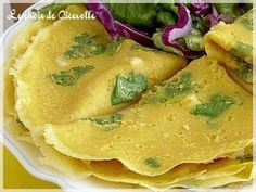 Crèpes indiennes à la farine de pois chiche -sans oeuf, sans lait-, Recette Ptitchef