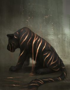 Reminds me of the myth of when a tiger dies, its spirit becomes amber. Illustrations by Jade Mere