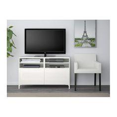 IKEA BESTÅ TV bench with doors
