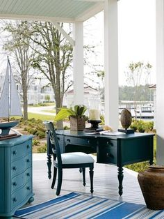 Coastal Porches – SeasideBeachDecor.com  where you will find outdoor pillows, rugs, lamps and more!