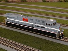 MTH Spotlight http://mthtrains.com/ho/spotlight/03_2015/b Today we have the MTH HO Norfolk Southern Heritage Monongahela ES44AC. The Monongahela 8025 comes in DCC/DCS Proto-Sound 3.0, DCC/DCS Proto-Sound 3E+ (3-Rail) Marklin, and DCC Ready. Ask your MTH Dealer about getting one this weekend. See all the in-stock Norfolk Southern MTH HO Heritage ES44ACs in the Spotlight link above.