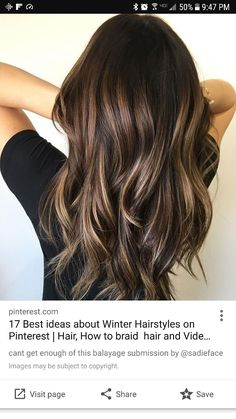 New Hair Color Ideas For Brunettes Balayage Colour Waves Ideas Hair Color And Cut, Great Hair, Pretty Hairstyles, Wedding Hairstyles, Brunette Hairstyles, Amazing Hairstyles, Blonde Haircuts, Hairstyles Haircuts, Long Brown Hairstyles