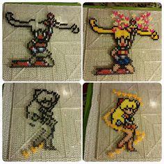 Sailor Moon and Sailor Venus perler fuse beads by b.dawg.skip