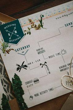 Rustic Wedding Invitation Suite: Woodland by WideEyesPaperCo