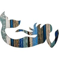 Recycled Swimming Mermaid Wall Art