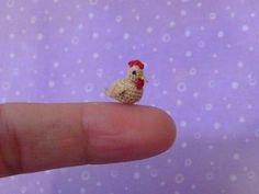 Micro Miniature Crocheted Chicken Hen