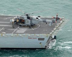 Wildcat Helicopter Onboard HMS Iron Duke for Trials by Defence Images, via Flickr
