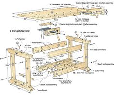 free work bench designs woodworking plans blueprints download wooden drying rackmetal workshop bench plans do it yourself furniture mid century modern wooden bike rack Free portable work bench plan…
