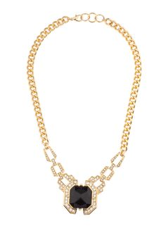Shop Prima Donna - Myx Stone Pendant Necklace Black as seen on Stassi Schroeder