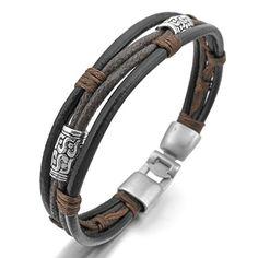 Men,Women's Alloy Genuine Leather Bracelet Bangle Rope Black Silver Brown Purple Braided (with Gift Bag) INBLUE http://www.amazon.com/dp/B00HQAUKHU/ref=cm_sw_r_pi_dp_76I-vb1MY37S5