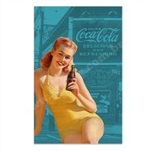Pano de Prato Algodão Coca-Cola Pin up Azul - Monky Design - R$ 36,50