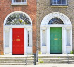 Famous Georgian doors in Dublin | Amazing Photography Of Cities and Famous Landmarks From Around The World Georgian Doors, Republic Of Ireland, Famous Landmarks, World Traveler, Dublin, Amazing Photography, Around The Worlds, Cities, Places
