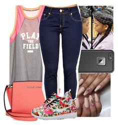 """Untitled #1124"" by chynaloggins ❤ liked on Polyvore featuring LifeProof and Michael Kors"