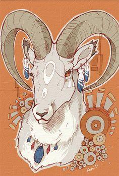 Komiti bestiary of my dreams art sketchbook, art, illustration art. Animal Sketches, Animal Drawings, Art Drawings, Aries Art, Zodiac Art, Illustration Art Nouveau, Dream Art, Creature Design, Animal Design