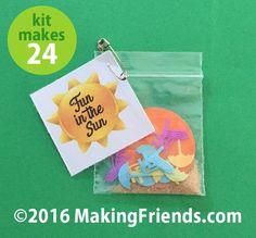 """Girl Scout Swaps Craft Kit """"Fun in the Sun"""""""