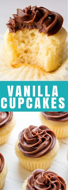 The Most Amazing Vanilla Cupcake Recipe is an easy to make one-bowl recipe. You'll never need another boxed mix again! #cupcakes #cake #dessert
